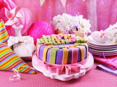 Amazing pink birthday background HD photo