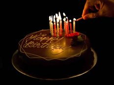 Birthday Cake Candle Lighting in the dark