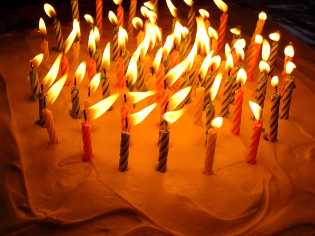 Birthday Cake with Candels Wallpaper