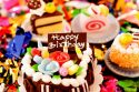 Birthday sweets (cupcaks, cake) wallpaper