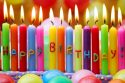 Bright Colorful Happy Birthday Candles HD Desktop Background