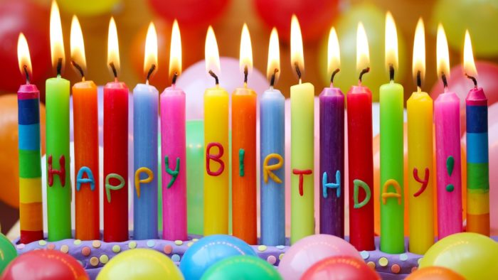Bright Colorful Happy Birthday Candles HD Desktop Background 2560x1440 700x394