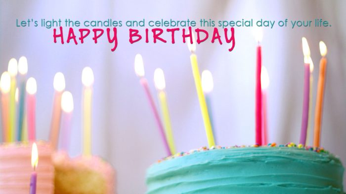 Good Birthday photo with Quote Wishes and Candles 700x394