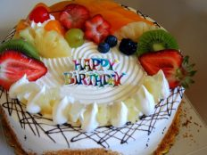 Great Birthday Fruit Cake Photo Desktop Wallpaper