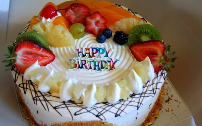 Great Birthday Fruit Cake Desktop Wallpapers 700x438