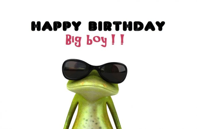 Happy Birthday big boy frog 685x450