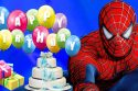 Happy Birthday congratulation from Spiderman