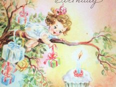 Happy Birthday little girl (postcard)