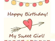 Happy Birthday my Sweet Girl (card)