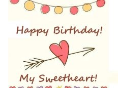 Happy Birthday my Sweetheart (card)