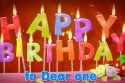Happy Birthday to Dear one (letters)