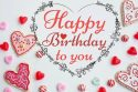 Happy Birthday to you image with love, hearts and greeting