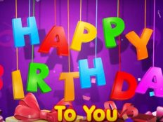 Colorful Happy Birthday to you letters