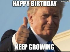 Happy Birthday with Donald Trump