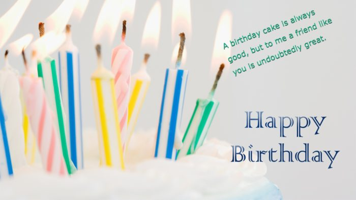 Happy Birthday Cake Candles Wishes and Greeting HD Photo 700x394