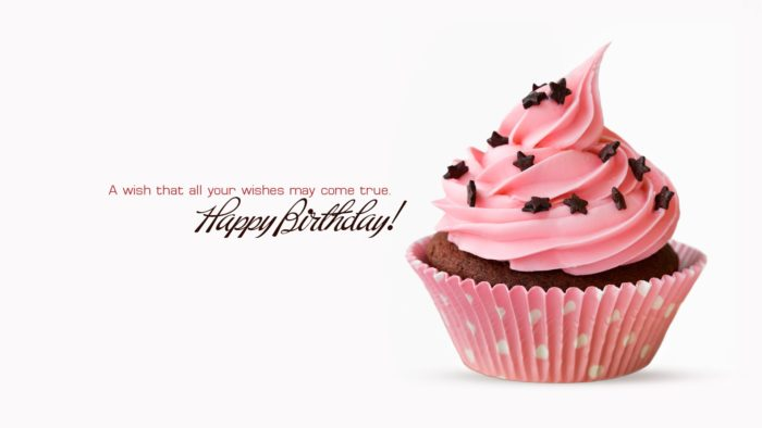 Happy Birthday Cupcake Wishes and Greeting HD Wallpaper 700x394