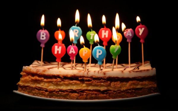 good birthday photo with quote wishes and candles 1 600x375
