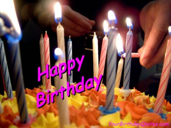 good birthday photo with quote wishes and candles 3 600x450