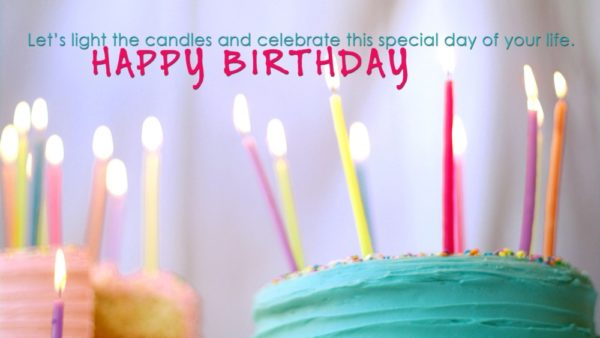 good birthday photo with quote wishes and candles 4 600x338