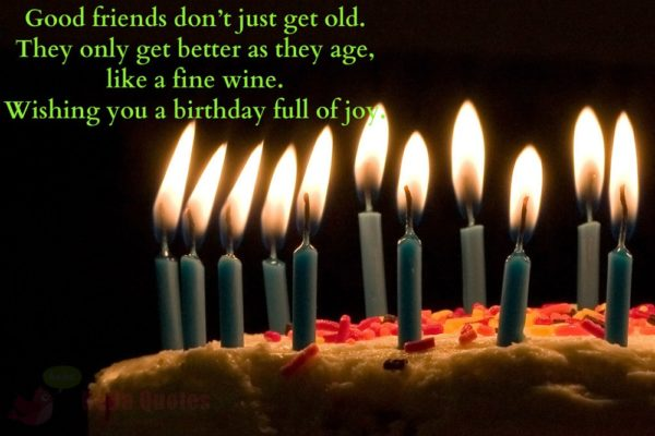 good birthday photo with quote wishes and candles 6 600x400