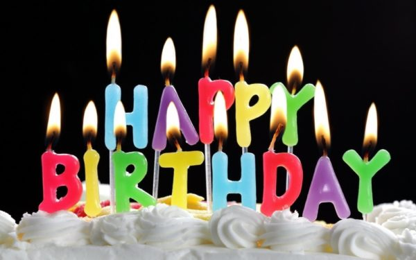 good birthday photo with quote wishes and candles 600x375