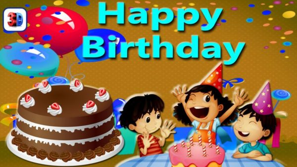 happy birthday cartoon celebration for kids wallpaper 6 600x338