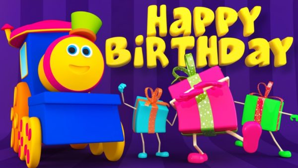 happy birthday cartoon celebration for kids wallpaper 600x338