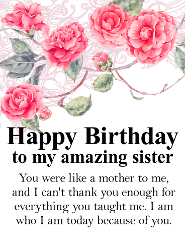 happy birthday dear sister you are amazing 1