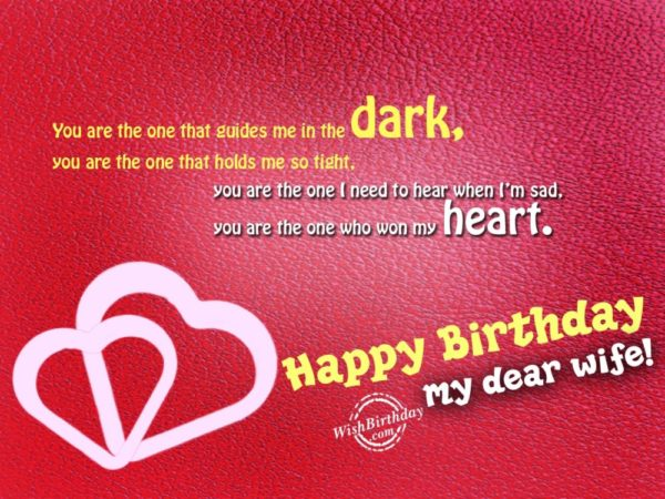 happy birthday my dear wife card 600x450