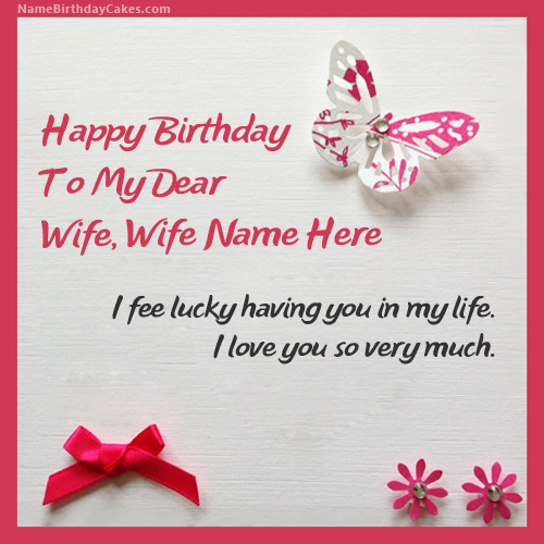 happy birthday my dear wife card