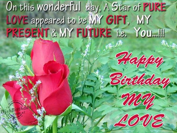 happy birthday my lovely girl card 600x450