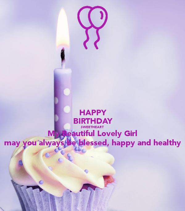 happy birthday my lovely girl card