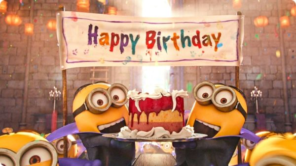 happy birthday with minions 1 600x338