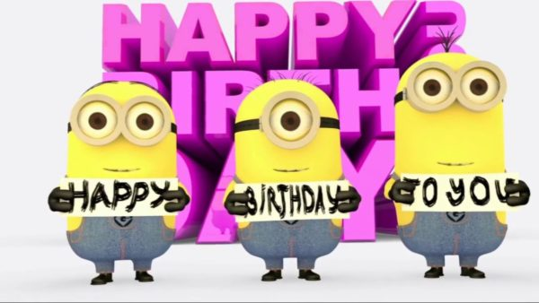 happy birthday with minions 3 600x338