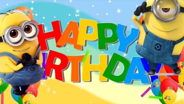 happy birthday with minions 5 600x338