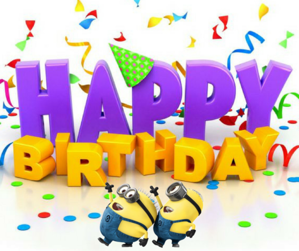 happy birthday with minions 600x503