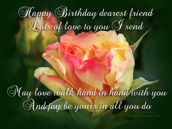 Happy Birthday to dear friend 1