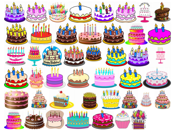 Birthday cakes clip arts collection 700x529