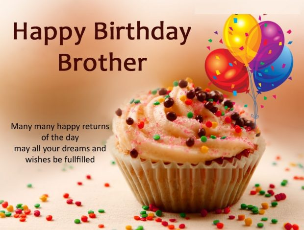 Happy Birthday Brother Simple Greeting Card 620x470