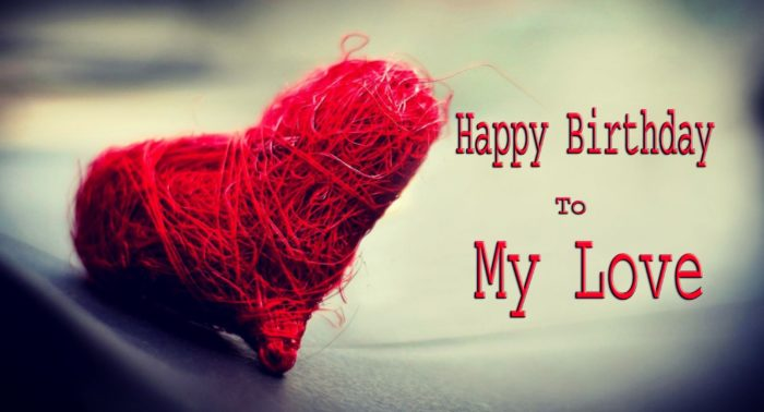 Happy Birthday to my love red handmade heart HD wallpaper 700x378