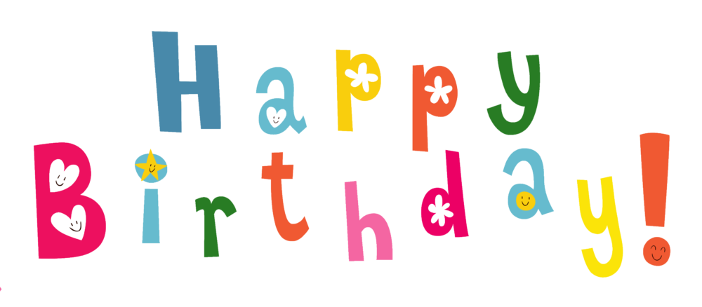 Lovely Happy Birthday Png Image With Hearts Gradient