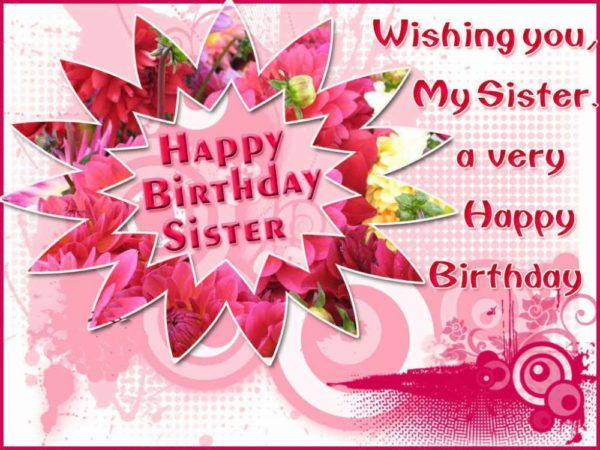 birthday greeting card to sister girl 1 600x450