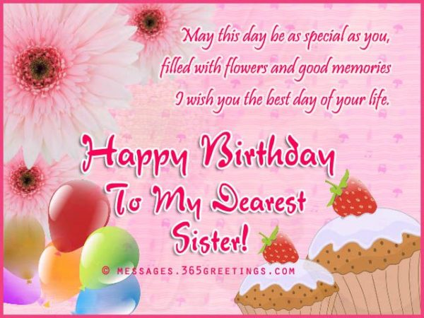 birthday greeting card to sister girl 2 600x450