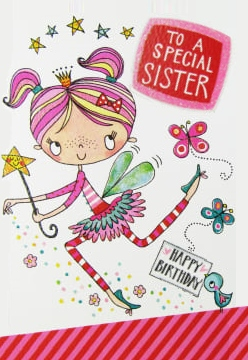 birthday greeting card to sister girl