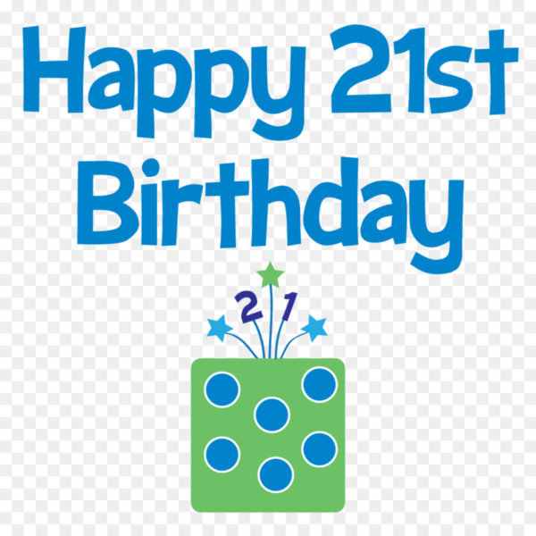 happy 21st birthday picture blue clip art 1 600x600