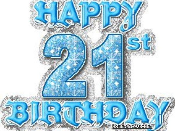 happy 21st birthday picture blue clip art 4 600x450