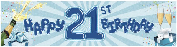happy 21st birthday picture blue clip art 5 600x160