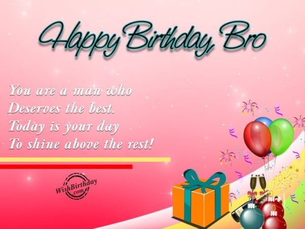 happy birthday brother simple greeting card 1 600x450