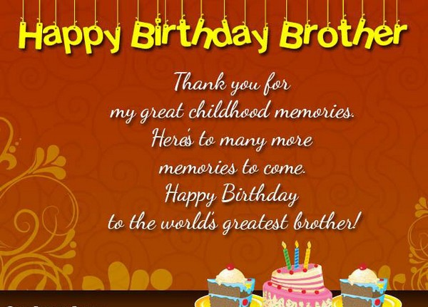 happy birthday brother simple greeting card 3