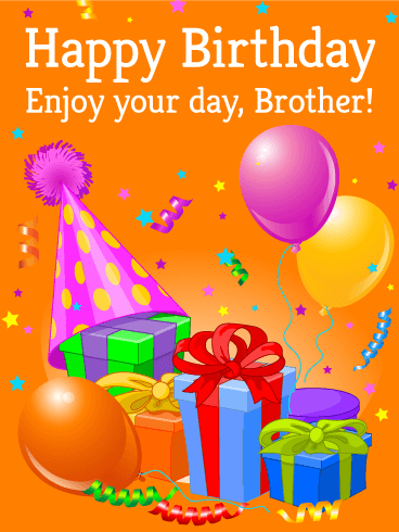 happy birthday brother simple greeting card